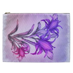 Flowers Flower Purple Flower Cosmetic Bag (xxl)