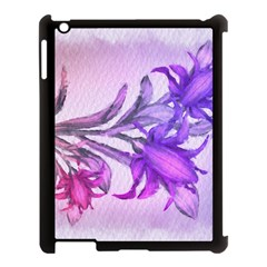 Flowers Flower Purple Flower Apple Ipad 3/4 Case (black)