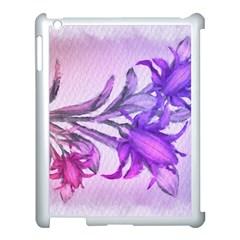 Flowers Flower Purple Flower Apple Ipad 3/4 Case (white)