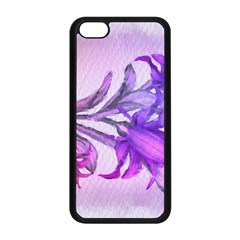 Flowers Flower Purple Flower Apple Iphone 5c Seamless Case (black)