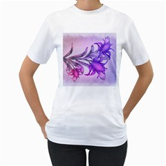 Flowers Flower Purple Flower Women s T Shirt (white)