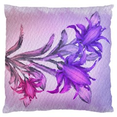 Flowers Flower Purple Flower Large Flano Cushion Case (one Side)