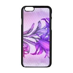 Flowers Flower Purple Flower Apple Iphone 6/6s Black Enamel Case
