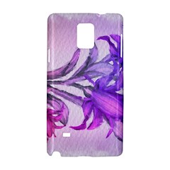 Flowers Flower Purple Flower Samsung Galaxy Note 4 Hardshell Case