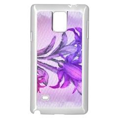 Flowers Flower Purple Flower Samsung Galaxy Note 4 Case (white)