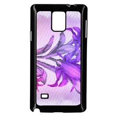 Flowers Flower Purple Flower Samsung Galaxy Note 4 Case (black)