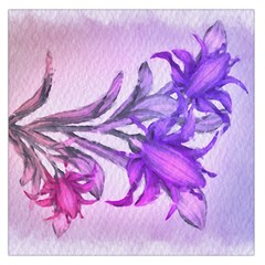 Flowers Flower Purple Flower Large Satin Scarf (square)