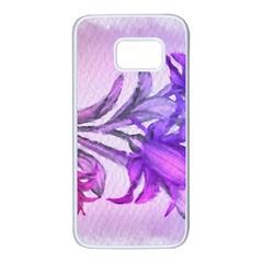 Flowers Flower Purple Flower Samsung Galaxy S7 White Seamless Case