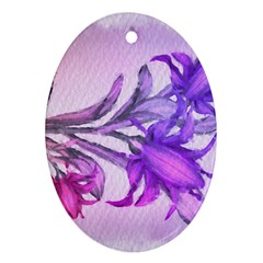 Flowers Flower Purple Flower Ornament (oval)
