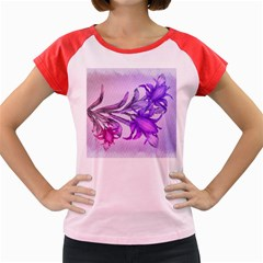 Flowers Flower Purple Flower Women s Cap Sleeve T Shirt