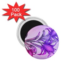 Flowers Flower Purple Flower 1 75  Magnets (100 Pack)