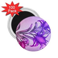 Flowers Flower Purple Flower 2 25  Magnets (100 Pack)