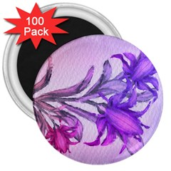 Flowers Flower Purple Flower 3  Magnets (100 Pack)