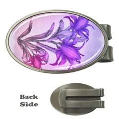 Flowers Flower Purple Flower Money Clips (oval)