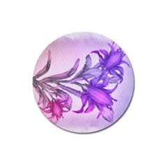 Flowers Flower Purple Flower Magnet 3  (round)