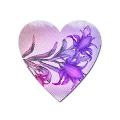 Flowers Flower Purple Flower Heart Magnet
