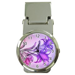 Flowers Flower Purple Flower Money Clip Watches