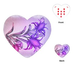 Flowers Flower Purple Flower Playing Cards (heart)