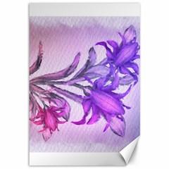 Flowers Flower Purple Flower Canvas 12  X 18