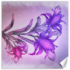 Flowers Flower Purple Flower Canvas 16  X 16
