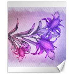 Flowers Flower Purple Flower Canvas 16  X 20
