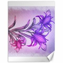 Flowers Flower Purple Flower Canvas 18  X 24