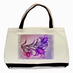 Flowers Flower Purple Flower Basic Tote Bag (two Sides)