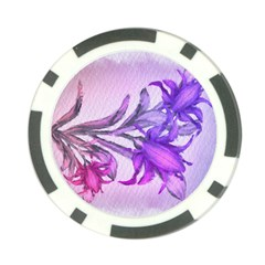 Flowers Flower Purple Flower Poker Chip Card Guard