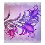 Flowers Flower Purple Flower Shower Curtain 66  x 72  (Large)  58.75 x64.8 Curtain