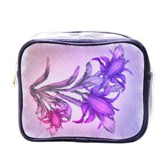 Flowers Flower Purple Flower Mini Toiletries Bags