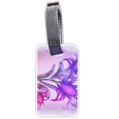Flowers Flower Purple Flower Luggage Tags (two Sides)
