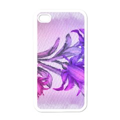 Flowers Flower Purple Flower Apple Iphone 4 Case (white)