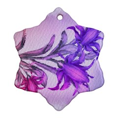 Flowers Flower Purple Flower Snowflake Ornament (two Sides)