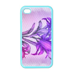 Flowers Flower Purple Flower Apple Iphone 4 Case (color)