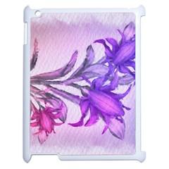 Flowers Flower Purple Flower Apple Ipad 2 Case (white)