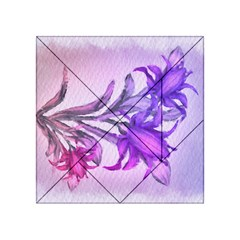 Flowers Flower Purple Flower Acrylic Tangram Puzzle (4  X 4 )