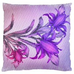 Flowers Flower Purple Flower Large Cushion Case (one Side)