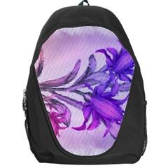 Flowers Flower Purple Flower Backpack Bag