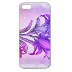 Flowers Flower Purple Flower Apple Seamless Iphone 5 Case (clear)