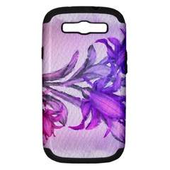 Flowers Flower Purple Flower Samsung Galaxy S Iii Hardshell Case (pc+silicone)