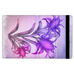Flowers Flower Purple Flower Apple Ipad 3/4 Flip Case