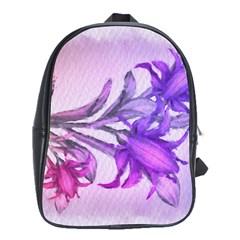 Flowers Flower Purple Flower School Bag (xl)