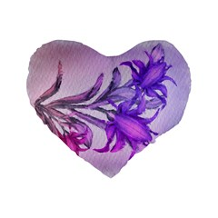 Flowers Flower Purple Flower Standard 16  Premium Heart Shape Cushions