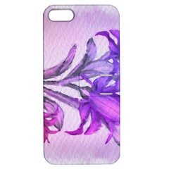 Flowers Flower Purple Flower Apple Iphone 5 Hardshell Case With Stand