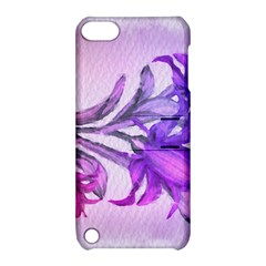 Flowers Flower Purple Flower Apple Ipod Touch 5 Hardshell Case With Stand