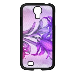 Flowers Flower Purple Flower Samsung Galaxy S4 I9500/ I9505 Case (black)
