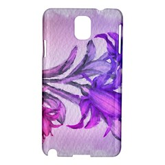 Flowers Flower Purple Flower Samsung Galaxy Note 3 N9005 Hardshell Case