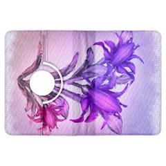 Flowers Flower Purple Flower Kindle Fire Hdx Flip 360 Case