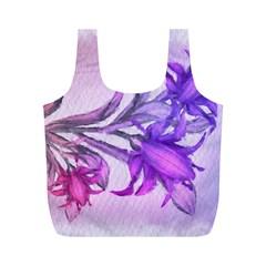Flowers Flower Purple Flower Full Print Recycle Bags (m)