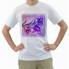 Flowers Flower Purple Flower Men s T Shirt (white)